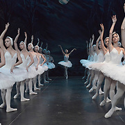 The St Petersburg Ballet Theatre performing SWAN LAKE at The Coliseum London UK  on 22.08.2018 Irina Kolesnikova with Members of the Company