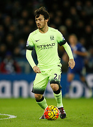 David Silva of Manchester City in action  - Mandatory byline: Jack Phillips/JMP - 07966386802 - 29/12/2015 - SPORT - FOOTBALL - Leicester - King Power Stadium - Leicester City v Manchester City - Barclays Premier League