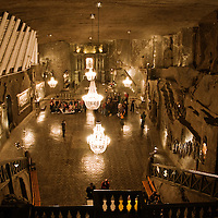 Wieliczka Salt Mine, Poland Stock Photography