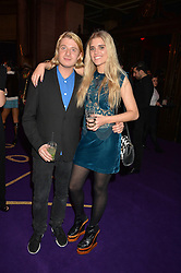 DOMINIC JONES and TIGERLILY TAYLOR at the Warner Music Brit Party held at the Freemason's Hall, 60 Great Queen Street, London on 25th February 2015.