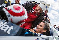 20.06.2015, Red Bull Ring, Spielberg, AUT, FIA, Formel 1, Grosser Preis von Österreich, Legendenrennen, im Bild Niki Lauda (AUT), Nelson Piquet (BRA) // during the Legend race of the Austrian Formula One Grand Prix at the Red Bull Ring in Spielberg, Austria, 2015/06/20, EXPA Pictures © 2015, PhotoCredit: EXPA/ Dominik Angerer