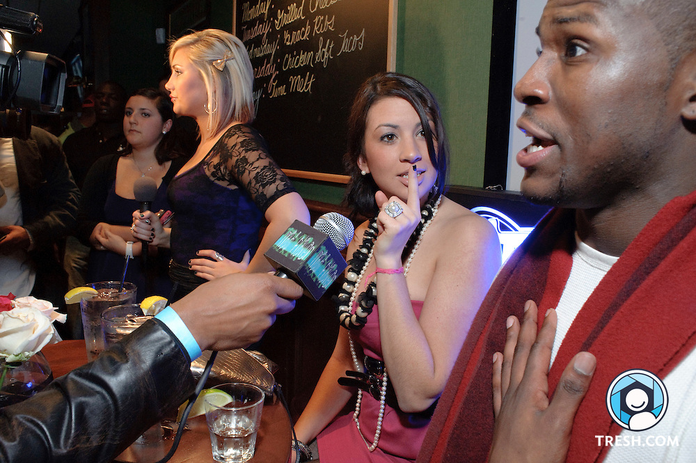 "Four of eight cast members of MTV's ""The Real World: Washington D.C."" meet with media prior to a showing of the premiere episode at BlackFinn DC, Wednesday December 30, 2009."
