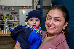 Pictured: Rebecca Bell, LibDem prospective candidate for Dunfermline and West Fife, with daughter Daphne (6 months)<br />