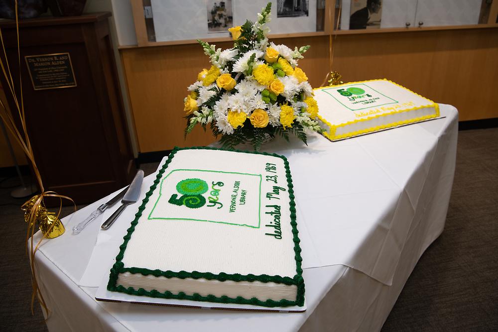 Ohio University elebrates the 50th birthday of Alden Library.