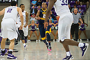 FORT WORTH, TX - JANUARY 4: Jevon Carter #2 of the West Virginia Mountaineers brings the ball up court against the TCU Horned Frogs on January 4, 2016 at Ed and Ray Schollmaier Arena in Fort Worth, Texas.  (Photo by Cooper Neill/Getty Images) *** Local Caption *** Jevon Carter