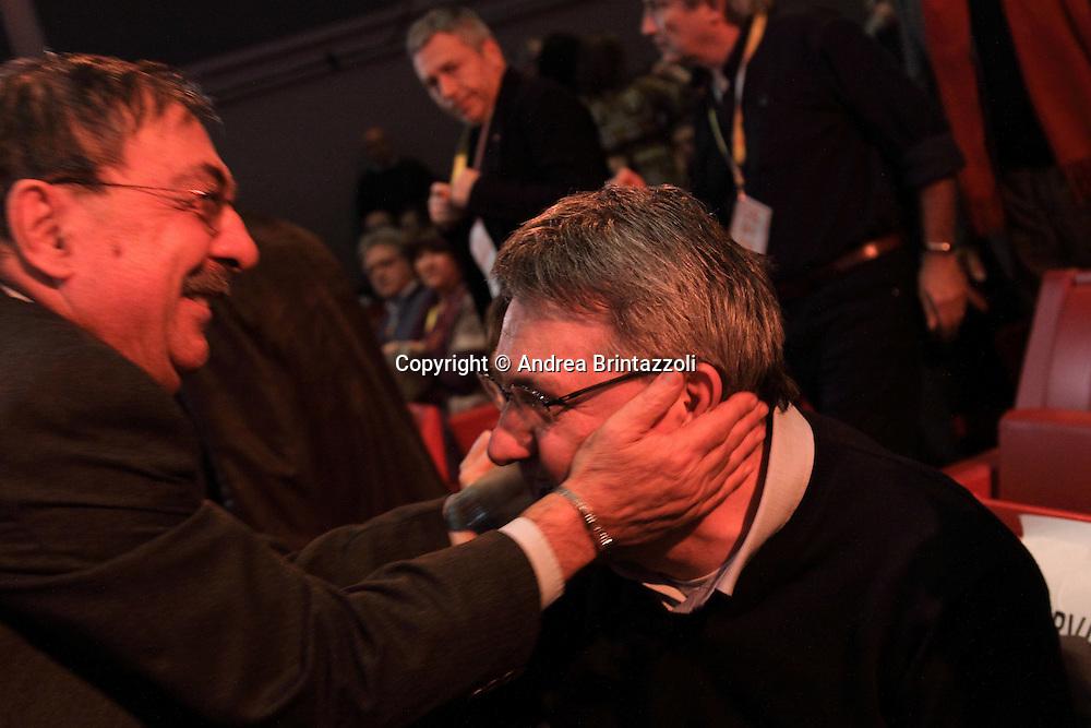 Riccione 25 Gennaio 2014 - 2&deg; Congresso Nazionale Sinistra Ecologia Liberta' - SEL<br /> Fabio Mussi, Maurizio Landini