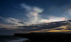 **CAPTION CORRECTION - Clouds in this image are Nacreous clouds, not Sirrus clouds stated in earlier captions** © Licensed to London News Pictures.01/02/16<br />