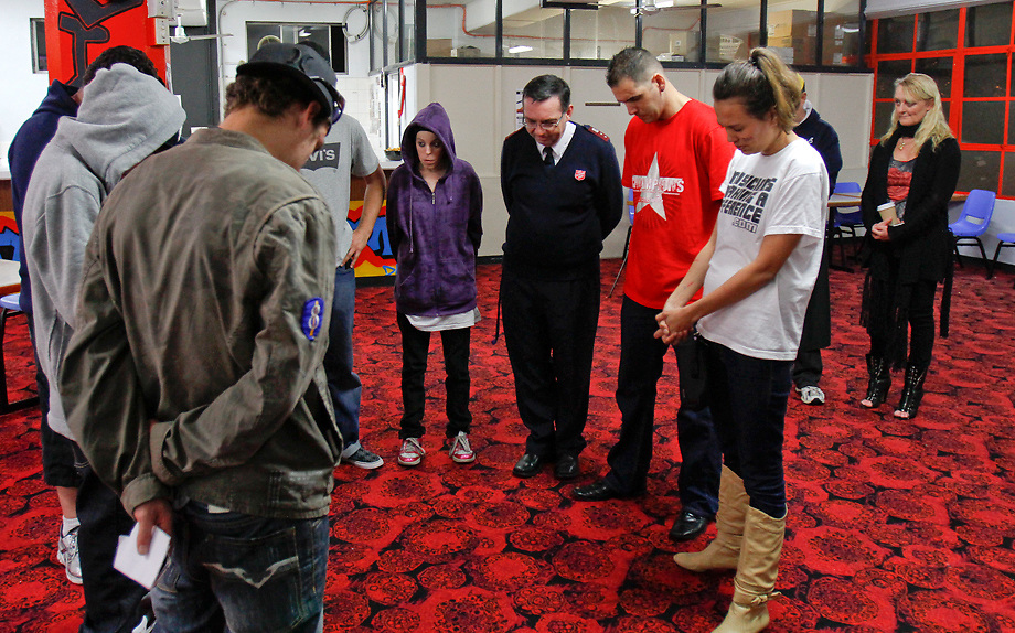 Prayers at Oasis Youth Network, Sydney, Austrailia