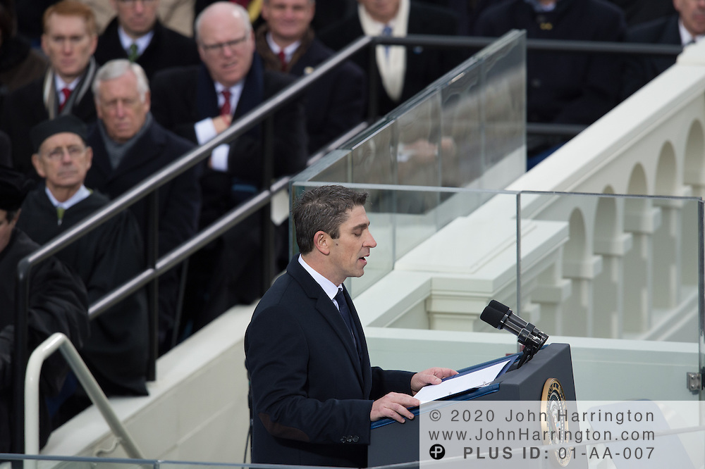 Supreme Court Justices listen on and look bemused during the inaugural poem being read during the 57th Presidential Inauguration of President Barack Obama at the U.S. Capitol Building in Washington, DC January 21, 2013.