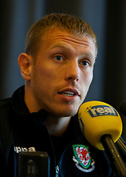 Rimini, Italy - Tuesday, October 16, 2007: Wales' captain Craig Bellamy at a press conference at the Le Meridian Hotel in Rimini ahead of the Group D UEFA Euro 2008 Qualifying match against San Marino. (Photo by David Rawcliffe/Propaganda)