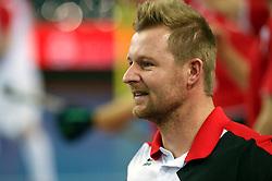LEIZPIG - WC HOCKEY INDOOR 2015<br /> AUT v POL (QF 3)<br /> Foto: LASKWOSKI Tomasz coach of the winning team<br /> FFU PRESS AGENCY COPYRIGHT FRANK UIJLENBROEK