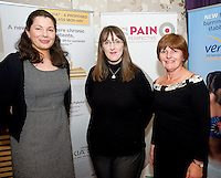 Colette Holland , Grunenthal, Anne Marie Duggan, Limerick Regional and Barbara Hernon Inis Mor at the Radisson Blu, Galway for the Assessing & Managing Pain, A Nursing Perspective lecture. Photo:Andrew Downes