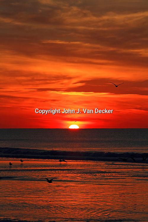 Sunrise in Wildwood Crest, New Jersey, USA