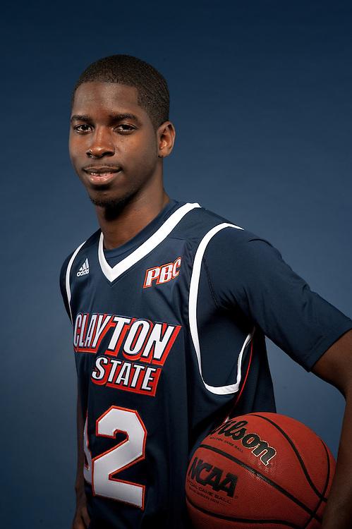 Nov. 9, 2012; Morrow, GA, USA; Portraits of basketball teams at Clayton State University. Tyler Davis. Photo by Kevin Liles / kdlphoto.com