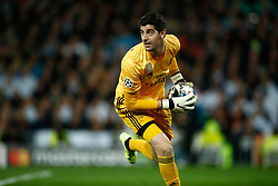 November 26, 2019, Madrid, MADRID, SPAIN: Thibaut Courtois of Real Madrid during the UEFA Champions League football match, Group A, played between Real Madrid and Paris Saint-Germain at Santiago Bernabéu Stadium on November 26, 2019, in Madrid, Spain. (Credit Image: © AFP7 via ZUMA Wire)