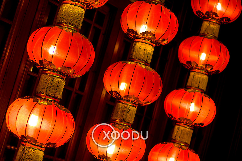 Red chinese lanterns (Beijing, China - Sep. 2008) (Image ID: 080920-2047161a)