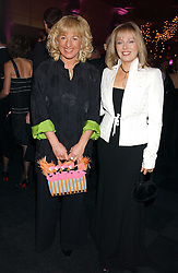 Left to right, CAROL THATCHER and FFION HAGUE at the Conservative Party's Black & White Ball held at Old Billingsgate, 16 Lower Thames Street, London EC3 on 8th February 2006.<br />