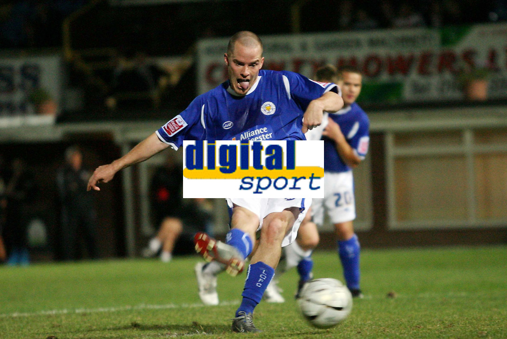 Photo: Rich Eaton.<br /> <br /> Hereford United v Leicester City. Carling Cup. 19/09/2006. Iain Hume scores Leicesters 3rd goal from the penalty spot