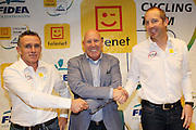 BELGIUM / BELGIQUE / BELGIE / LICHTAART / CYCLING / CYCLISME / WIELRENNEN / CYCLOCROSS / VELDRIJDEN / CYCLO-CROSS / TELENET - FIDEA CYCLING TEAM / TELENET FIDEA CYCLING TEAM / PRESS CONFERENCE / PERSCONFERENTIE / (L-R) DANNY DE BIE (COACH) / HANS VAN KASTEREN (MANAGER) / KRIS WOUTERS (COACH) /