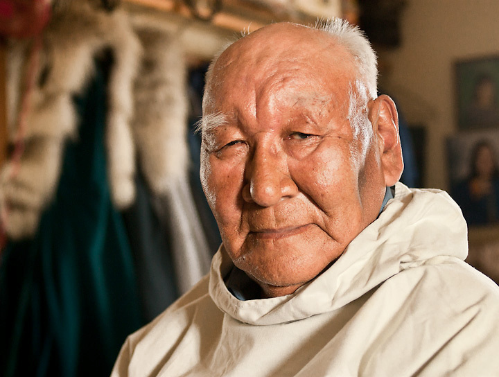 Inupiat elder and natural sciences advisor, Kenny Toovak, in his home in Barrow, Alaska.