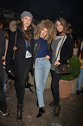 Sabrina Percy, Tess Ward and Amber Le Bon at The Ivy Chelsea Garden's Guy Fawkes Party, 197 King's Road, London, England. 05 November 2017.