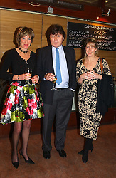 Left to right, FIONA SANDERSON, RUPERT ALLASON and KYM ERLICH  at a pre-screening party of a film by Fiona Sanderson entitled 'The Hunt For Lord Lucan' held at Langans, 254 Old Brompton Road, London SW7 on 8th November 2004.<br /><br />NON EXCLUSIVE - WORLD RIGHTS