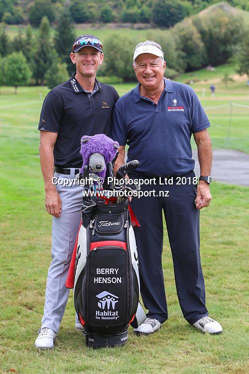 Berry Henson & Pete Francis, Day 1 of the 2018 ISPS Handa New Zealand Golf Open. Millbrook golf course, Arrowtown, New Zealand. Thursday 1 March 2018. © Copyright Photo: Richard Greenfield / www.photosport.nz
