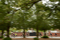 Riders pass through Wimbledon. The Prudential RideLondon Sportives. Sunday 29th July 2018<br /> <br /> Photo: Jed Leicester for Prudential RideLondon<br /> <br /> Prudential RideLondon is the world's greatest festival of cycling, involving 100,000+ cyclists - from Olympic champions to a free family fun ride - riding in events over closed roads in London and Surrey over the weekend of 28th and 29th July 2018<br /> <br /> See www.PrudentialRideLondon.co.uk for more.<br /> <br /> For further information: media@londonmarathonevents.co.uk