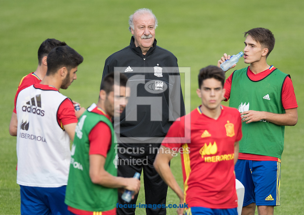 Vicente del Bosque, head coach of Spain during training at Aktivpark Montafon Stadion, Schruns<br /> Picture by EXPA Pictures/Focus Images Ltd 07814482222<br /> 26/05/2016