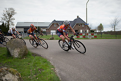 Christina Siggaard (DEN) of Veloconcept leans into a corner during the last lap of Stage 4 of the Healthy Ageing Tour - a 126.6 km road race, starting and finishing in Finsterwolde on April 8, 2017, in Groeningen, Netherlands.