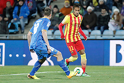16.01.2014, Coliseum Alfonso Perez, Getafe, ESP, Copa del Rey, FC Getafe vs FC Barcelona, Achtelfinale, Rueckspiel, im Bild Barcelona´s Neymar Jr // Barcelona´s Neymar Jr during the last sixteen 2nd leg match of Spanish Copa del Rey between Getafe CF and Barcelona FC at the Coliseum Alfonso Perez in Getafe, Spain on 2014/01/16. EXPA Pictures © 2014, PhotoCredit: EXPA/ Alterphotos/ Victor Blanco<br /> <br /> *****ATTENTION - OUT of ESP, SUI*****