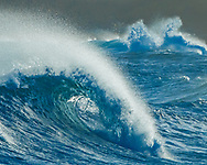 Breaking waves along the coast of Kauai, © 2010 David A. Ponton