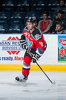 KELOWNA, CANADA - OCTOBER 31: Dillon Dube #19 of Kelowna Rockets skates against the Lethbridge Hurricanes on October 31, 2015 at Prospera Place in Kelowna, British Columbia, Canada.  (Photo by Marissa Baecker/Shoot the Breeze)  *** Local Caption *** Dillon Dube;