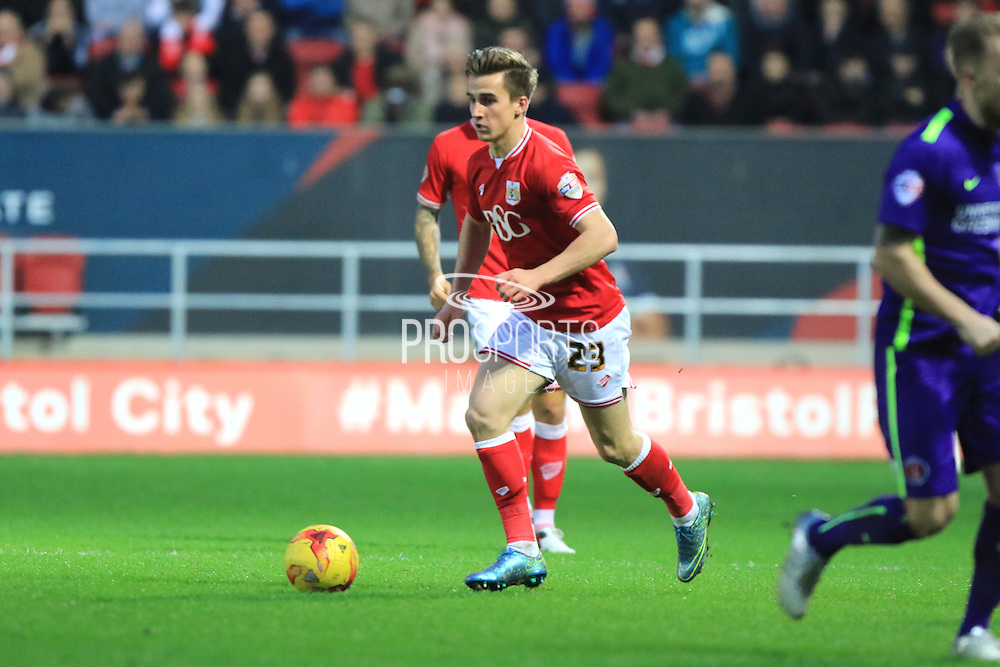 Bristol City midfielder Joe Bryan during the Sky Bet Championship match between Bristol City and Charlton Athletic at Ashton Gate, Bristol, England on 26 December 2015. Photo by Jemma Phillips.
