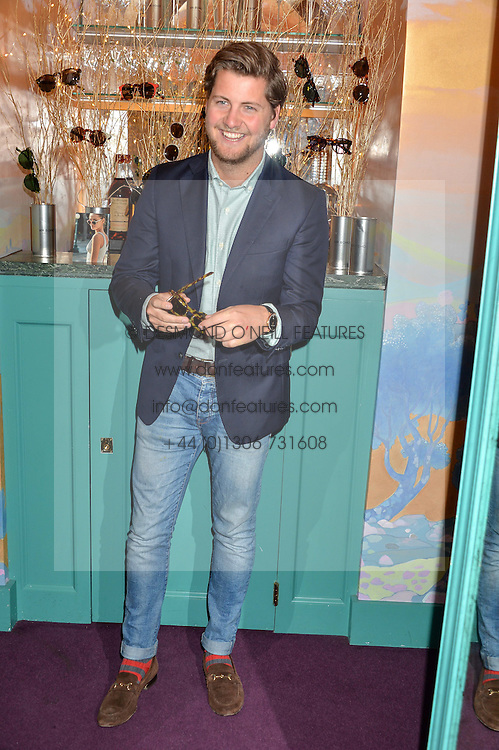 STEVIE JOHNSON at a party for the UK launch of Mr Boho held at Annabel's, 44 Berkeley Square, London on 19th May 2016.