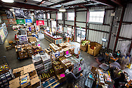 """Just one part of Second Harvest's warehouse, where agencies serving different parts of the community """"shop"""" for food and produce"""