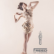 Misa Kuranaga of Boston Ballet for Freed of London Ad Campaign. Pointe shoe dress by Alexis Mondragon.