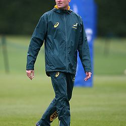 LONDON, ENGLAND - NOVEMBER 01: Jacques Nienaber (Defence Coach) of South Africa during the South African national rugby team training session at Latymer Upper School on November 01, 2018 in London, England. (Photo by Steve Haag/Gallo Images)