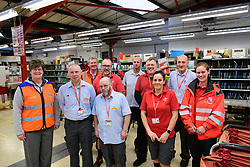 Pictured is assistant delivery office manager Carol Henley, left, with colleagues.<br /> <br /> Colleagues at the Royal Mail's Dinnington Mail Processing Unit (Dinnington Delivery Office) are setting a national standard when it come to doorstep scanning.  The team have topped 95% on compliance for parcels and large letters.<br /> <br /> Picture: Chris Vaughan Photography<br /> Date: February 2018