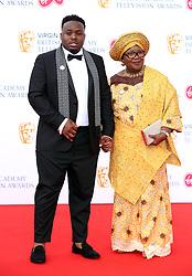 Samson Kayo and his mum attending the Virgin TV British Academy Television Awards 2018 held at the Royal Festival Hall, Southbank Centre, London.