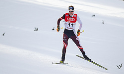 18.01.2014, Casino Arena, Seefeld, AUT, FIS Weltcup Nordische Kombination, Seefeld Triple, Langlauf, im Bild Bernhard Gruber (AUT) // Bernhard Gruber (AUT) during Cross Country at FIS Nordic Combined World Cup Triple at the Casino Arena in Seefeld, Austria on 2014/01/18. EXPA Pictures © 2014, PhotoCredit: EXPA/ JFK