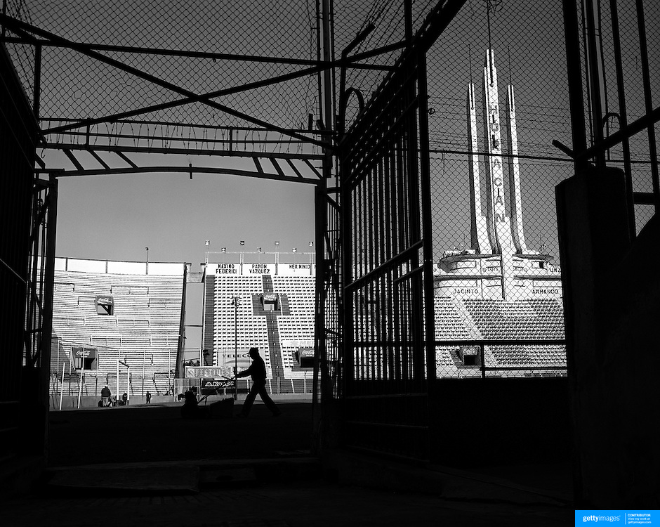 Playing with Ghosts... Football Stadiums of Argentina..Argentina, one of the powerhouses of World Football is steeped in history and tradition, so too are the countries stadiums. Many were built in the early part of the 1900's and maintain an incredible unique atmosphere of their own. Empty stadiums terraces sing to the observer, holding onto the fans voices from match days past when Argentina's fans show a passion for the game and their clubs which is second to none. The historic stadiums have a voice of their own and a unique atmosphere. ..Estadio Tomás Adolfo Ducó, the home of Club Atlético Huracán, known simply as Huracán. The club are situated in the Parque Patricios neighbourhood of Buenos Aires, Argentina.  The stadium was opened 11 September 1949 and has a capacity of  48,314.