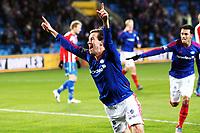 Fotball, 28. oktober 2012 ,Tippeligaen , Eliteserien , Vålerenga - Tromsø<br /> scoing og jubel Morten Berre  , VIF