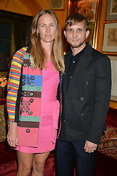 FRANCIS UPRITCHARD and CHRISTOPHER DE VOS at an exclusive dinner for Iris Apfel held at Annabel's, Berkeley Square, London on 29th July 2015.