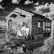Muck Rock Bunny Shack - Joshua Tree, CA - Infrared Black & White