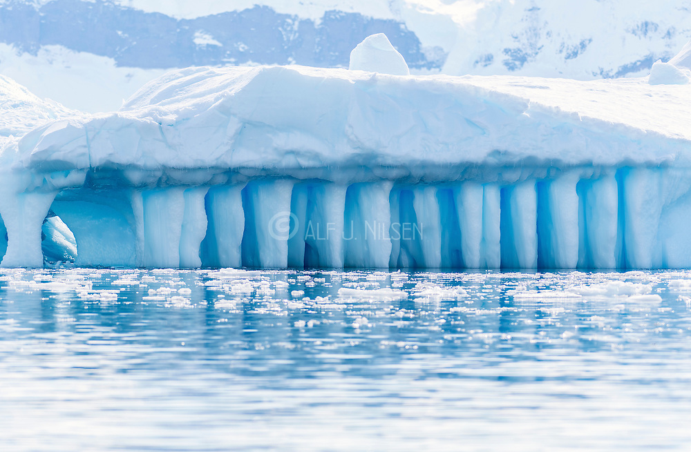 Blue ice formation at Cuverville Island, Antarctica