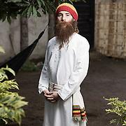 Portrait of Ras John Judah, Shshamane, Ethiopia.<br /> <br /> Ras John Judah is with the Twelve Tribes of Israel. He and his family are one of the few white Rastafarians living in Ethiopia.