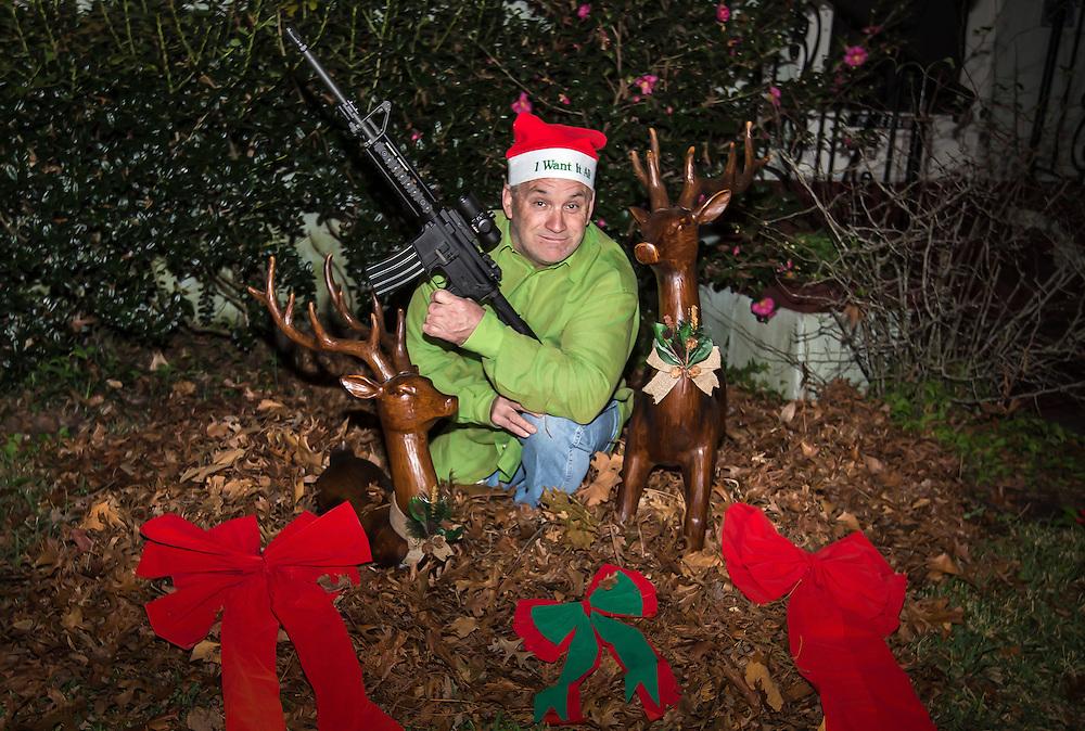 Gideon LeBreton poses for Christmas Photo