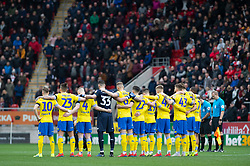 January 26, 2019 - Rotherham, England, United Kingdom - A minute's silence before the Sky Bet Championship match between Rotherham United and Leeds United at the New York Stadium, Rotherham, England, UK, on Saturday 26th January 2019. (Credit Image: © Mark Fletcher/NurPhoto via ZUMA Press)