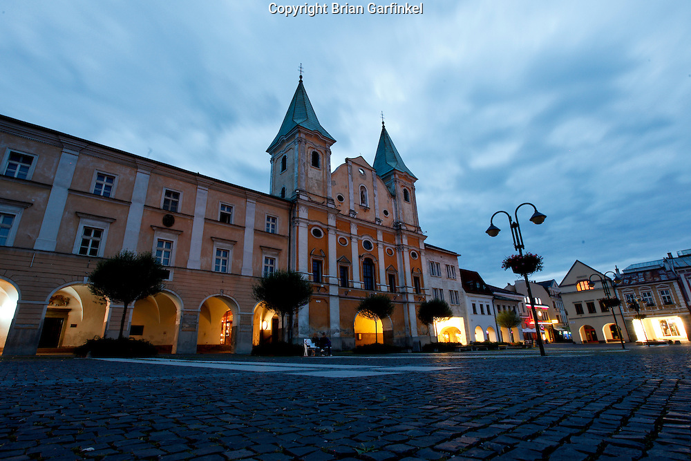 The main square in Zilina, Slovakia on Saturday July 2nd 2011. (Photo by Brian Garfinkel)